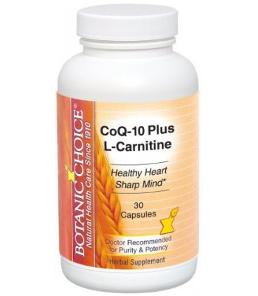 Botanic Choice CoQ10 Plus L-Carnitine, 30 Capsules Bottle (P