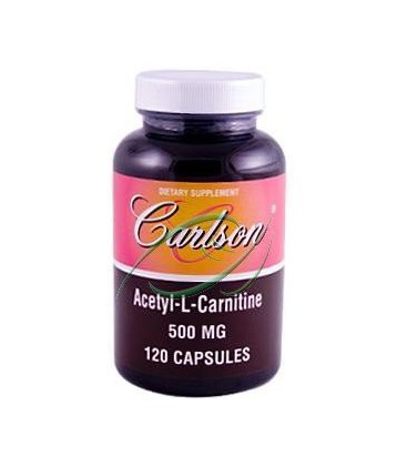 Carlson Labs Acetyl L-Carnitine, 500mg, 120 Capsules