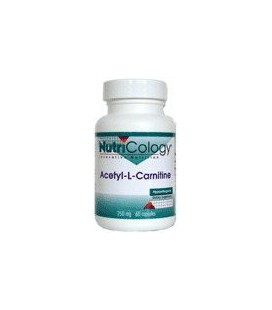 Nutricology Acetyl L-carnitine 250 Mg, Vegicaps, 60-Count