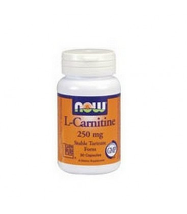 NOW Foods L-carnitine 250mg, 60 Capsules (Pack of 2)