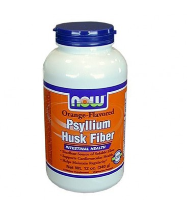 NOW Foods Orange Psyllium Fiber, 12 Ounces (Pack of 2)