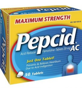 Pepcid AC Acid Reducer (20 mg), Maximum Strength, 50-Count T