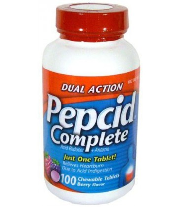 Pepcid Complete Dual Action Acid Reducer and Antacid Berry F