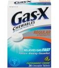Gas-X Anti-Gas Chewable Tablets, Peppermint Creme, 36-Count
