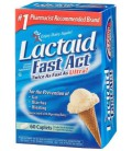 Lactaid Fast Act Lactase Enzyme Supplement, Caplets 60 each