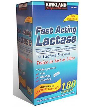 180 Caplets Fast Acting Lactase - Lactase Enzyme - Compare t