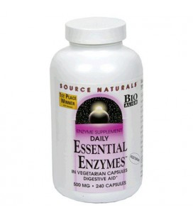 Source Naturals Daily Essential Enzymes, 500mg, 240 Vcaps