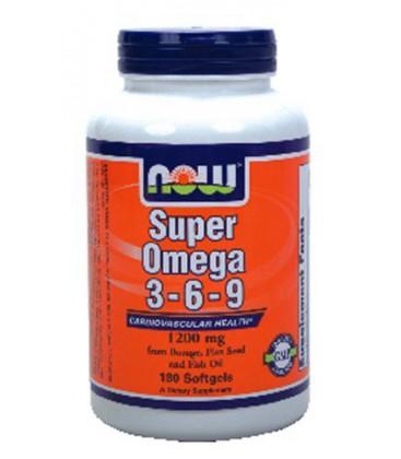 Now Foods Super Omega 3-6-9 1200mg, 180 gels ( Multi-Pack)