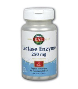 KAL - Lactase Enzyme, 250 mg, 60 softgels