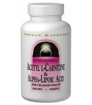 Source Naturals Acetyl L-Carnitine and Alpha Lipoic Acid, 65