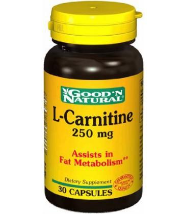 Good'N Natural - L-Carnitine 250 mg, 30 Caps
