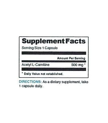 Acetyl L-Carnitine 500mg Biologically and Clinical Studies H