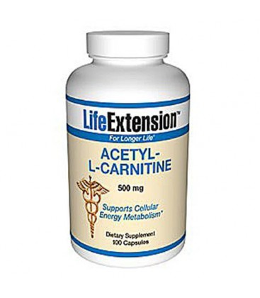 Acetyl-L-Carnitine, 500 Mg 100 Caps