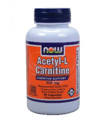 Now Foods Acetyl L-Carnitine 500 mg (50 caps) ( Multi-Pack)