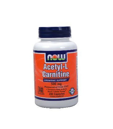 Now Foods Acetyl-L Carnitine 500 mg - 200 Caps ( Multi-Pack)