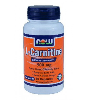 Now Foods Carnitine 500 mg (60 caps) ( Multi-Pack)