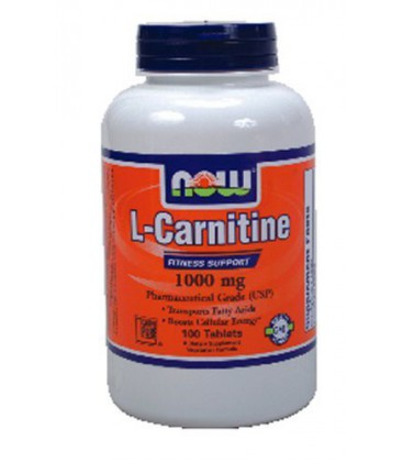 Now Foods L-Carnitine 1000mg, 100 tabs ( Multi-Pack)