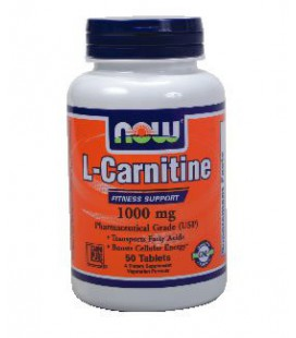 NOW Foods L-Carnitine Tartrate 1000 mg, 50-Tablets ( Multi-P