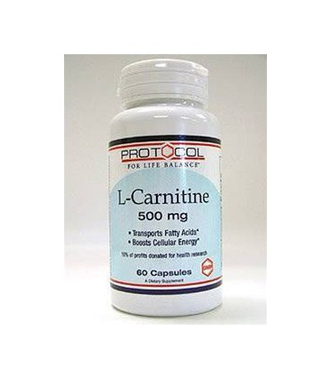 Protocol For Life Balance - L-Carnitine 500 mg 60 caps
