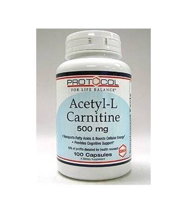 Protocol for Life Balance Acetyl-L-Carnitine, 500 mg - 100 C