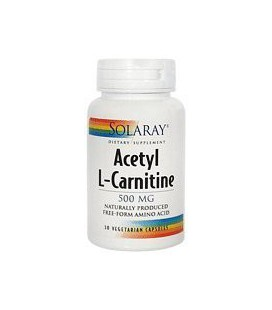 Solaray - Acetyl L-Carnitine - - 30 vegetarian capsules