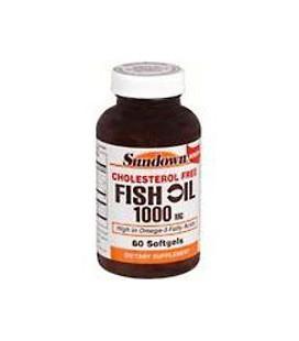 Fish Oil 1000 Mg Cholesterol Free Dietary Supplement Softgel