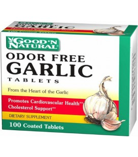 Odor Free Garlic Tablets - Cholesterol Support, 100 tabs,(Go