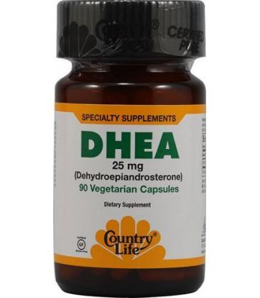 Country Life - Dhea (Dehydroepiandrosterone), 25 mg, 90 caps