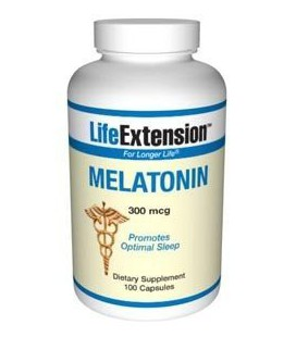 Life Extension Melatonin 300 mcg Capsules, 100-Count