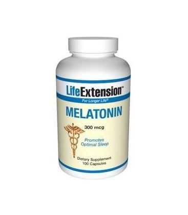 Life Extension Melatonin 300 mcg Capsules, 100-Count