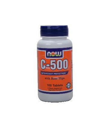 NOW C-500 VITAMIN C 500 MG (with Rose Hips) - 100 TABLETS ( Multi-Pack)