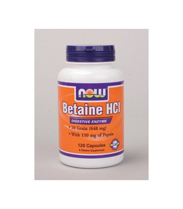 NOW Foods - Betaine HCl 648 mg 120 caps