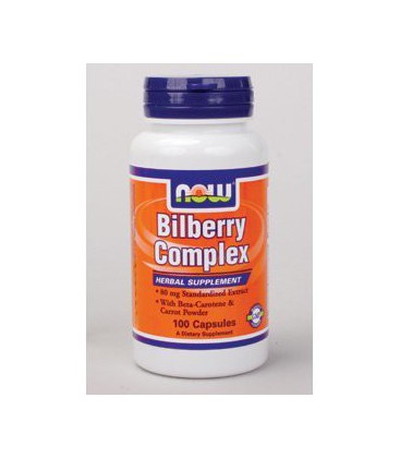 NOW Foods - Bilberry Complex Plus 80 mg 100 caps