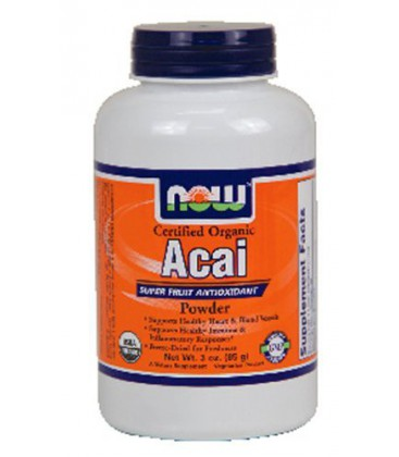 NOW Foods - Certified Organic Acai Super Fruit Antioxidant Powder - 3 oz. ( Multi-Pack)