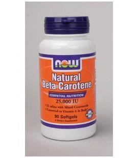 NOW Foods - Natural Beta Carotene 25,000 IU 90 gels