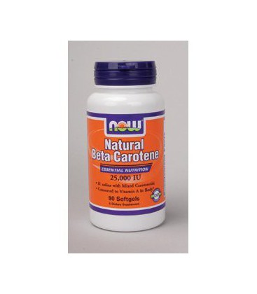 NOW Foods - Natural Beta Carotene 25,000 IU 90 gels