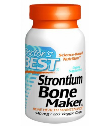 Doctor's Best Strontium Bone Maker (340mg Elemental), 120-Co