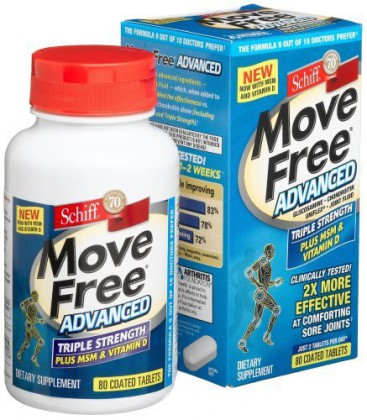 Schiff Move Free Advanced , Triple Strength Plus MSM & Vitam