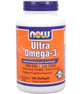 Now Foods Ultra Omega 3 Fish Oil Soft-gels, 180-Count