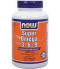 Now Foods Super Omega 3-6-9 Soft-gels, 1200Mg, 180-Count