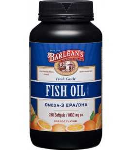 Barlean's Organic Oils Fresh Catch Fish Oil, Orange Flavor,