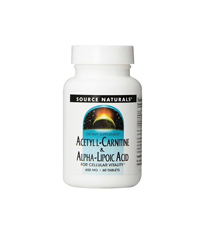 Source Naturals acétyl L-Carnitine et alpha-lipoïque