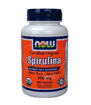NOW Foods - Spirulina 500 mg. - 180 Tablets ( Multi-Pack)