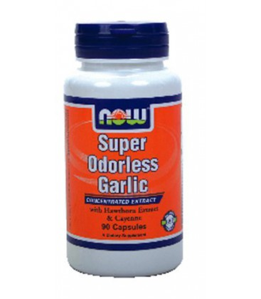 NOW Foods - Super Odorless Garlic - 90 Capsules ( Multi-Pack)