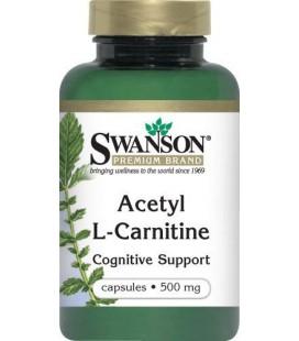 Acétyl L-Carnitine 500 mg 100 Caps par Swanson Prime