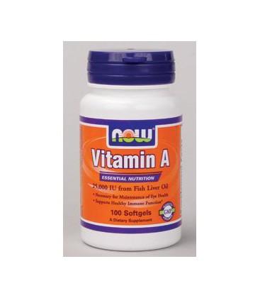 NOW Foods - Vitamin A 25,000 IU 100 softgels