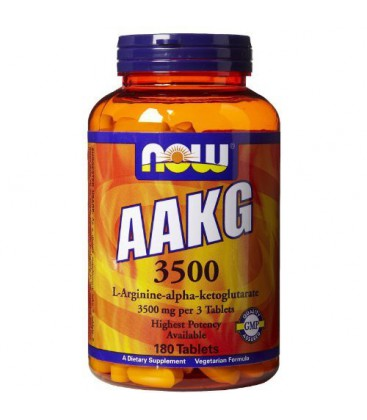Now Foods AAKG 3500, 180 tablets ( Multi-Pack)