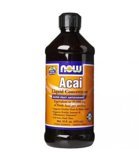 NOW Foods Acai Concentrate (Liquid), 16 oz (Pack of 2)