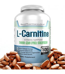 Meilleur Supplément pharmaceutique L-carnitine tartrate acide aminé - 100 comprimés - 1000mg - Boost Cellular Energy Now - Speed