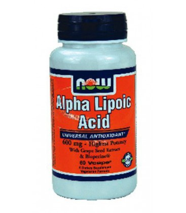 Now Foods Alpha Lipoic Acid 600mg, 60 caps ( Multi-Pack)